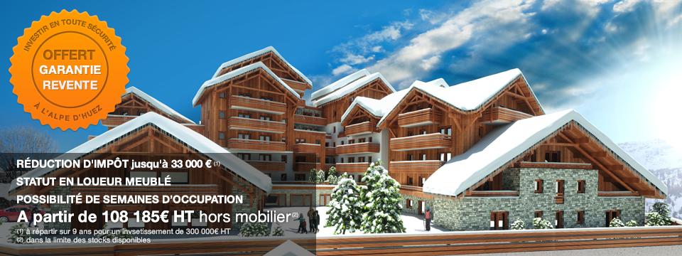Résidence hôtelière de tourisme haut de gamme ***  –  Défiscalisation à la montagne