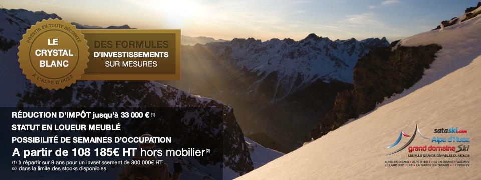 Alpe d'Huez Grand Domaine SKI –  investir dans un appartement à la montagne